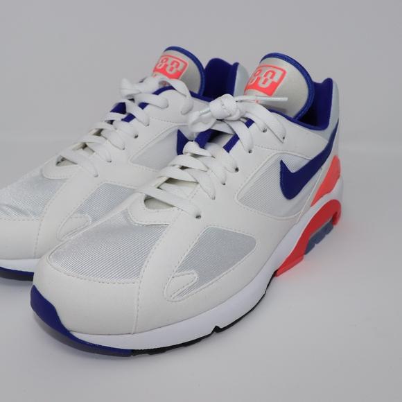 Nike Air Max 180 Mens Size 9 Shoes White Ultramarine Solar